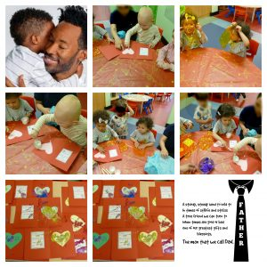 Father's day activities done in nursery