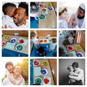 Images of different fathers to celebrate father's day