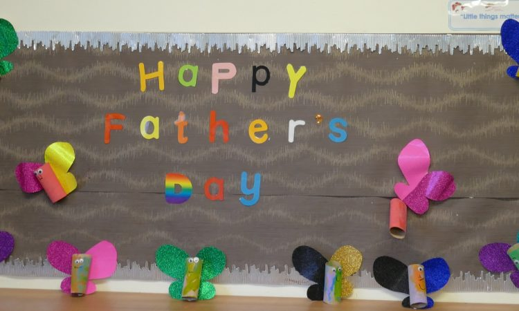 Father's day display in the nursery